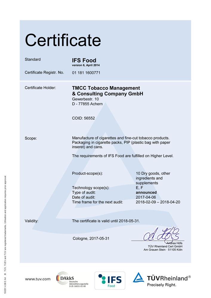 IFS-Zertifikat-E